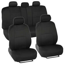 Car Seat Covers for Nissan Sentra 2 Tone Color Black w/ Split Bench
