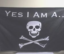 Parrot Head Fans Yes I Am A Pirate ... Boat Flag Free Shipping NEW 12x18 in