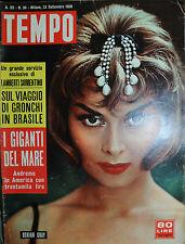 TEMPO N° 39/ 23.SET.1958 - DORIAN GRAY - I GIGANTI DEL MARE -
