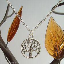 "Sacred Oak Tree of Life Pendant 20"" S/P Chain Necklace ~ Gift Bag"