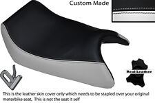 WHITE & BLACK CUSTOM FITS APRILIA AF1 125 88-91 SINTESI FRONT LEATHER SEAT COVER