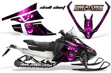 ARCTIC CAT F SERIES SNOWMOBILE GRAPHICS KIT CREATORX DECALS SKULL CHIEF PINK