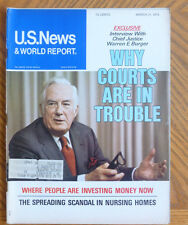 US News & World Report March 31 1975 Chief Justice Warren Burger