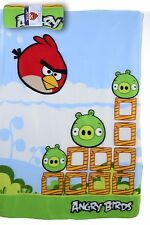 BRAND NEW ANGRY BIRDS FLEECE BLANKET GREEN BIRD 120CM X 150CM