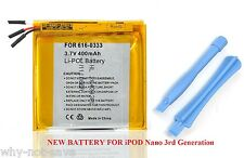 Replacement internal battery for ipod Nano 3 3rd gen 3G Generation A1236 4GB 8GB