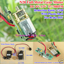 DC6V~12V 78RPM Mini Full Metal Gearbox Gear Motor N20 Speed Reduction Gear Motor
