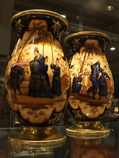 antichi vasi in porcellana  in coppia dipinti a mano epoca metà 800 Francesi