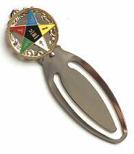 Masonic Eastern Star Round Emblem Enamel Crested Bookmark & Gift Bag (K012)