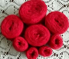 Mohair Blend Yarn Red Wool BULKY Weight ~ @13+ oz ~ Recycled Reclaimed