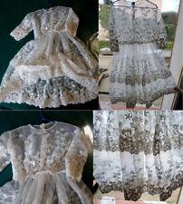 Belle robe longue en dentelle tulle pour poupée JUMEAU ou autres taille 9