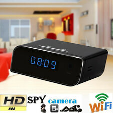 Wireless Wifi IP Full HD 1080P Clock Spy Hidden Camera IR Security Web Cam DVR