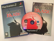 PLAYSTATION 2 PS2 GAME SHOGUN'S shoguns BLADE +BOX & INSTRUCTIONS COMPLETE PAL
