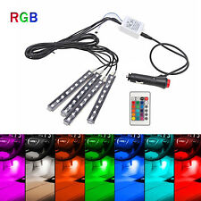 4 x 9 LED Car SUV Interior RGB Atmosphere Decorative SMD Strip Light Neon Lamp