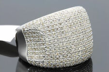 2.02 CARAT 100% GENUINE DIAMONDS MENS WHITE GOLD FINISH ENGAGEMENT PINKY RING