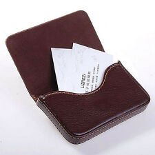 New Mens Coffee Pocket PU Leather Business ID Credit Card Holder Case Wallet