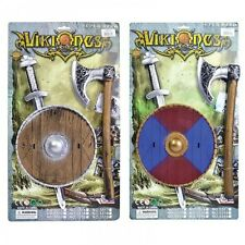 Toy Viking Sword Axe and Shield Set Fancy Dress Costume Accessory Kit