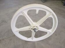 OLD SCHOOL BMX WHITE SKYWAY MAG retro throwback  freestyle VINTAGE front