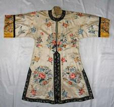 Qing Dynasty Chinese Embroidered Silk Robe
