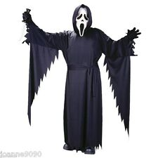 BOYS OFFICIAL SCREAM GHOSTFACE MASK HALLOWEEN FANCY DRESS COSTUME OUTFIT + MASK