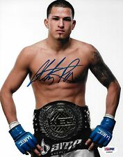 Anthony Pettis Signed UFC 8x10 Photo PSA/DNA COA Picture w WEC 53 Belt Autograph