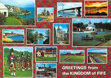 Scotland Greetings from the Kingdom of Fife Pipe Band Shell House Leven