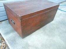 Unique Older Pine Dovetailed Corners Chest Trunk Coffee Table From Scotland