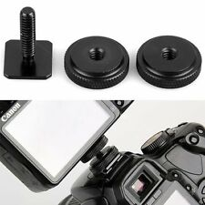 Pro 1/4 Inch Dual Nuts Tripod Mount Screw to Flash Camera Hot Shoe Adapter