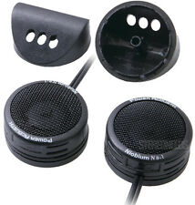 "POWER ACOUSTIK NB-1 1"" SURFACE/ANGLE-MOUNT MICRO DOME TWEETERS NIOBIUM MAGNETS"
