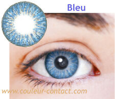 LENTILLE DE COULEUR BLEU 90J COLOURED LENS VERRE CONTACT SMALL PUPIL DARK EYES