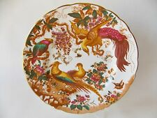 "ROYAL CROWN DERBY OLDE AVESBURY 8 1/2"" SALAD PLATE MULTICOLORED CHELSEA BIRDS"