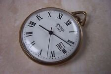 A SMALL SEKONDA CALENDER POCKET WATCH c. EARLY 1970'S