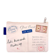 Paper Plane Ladies Womens Vintage Cosmetic Make Up Bag Purse Disaster Designs