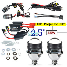 "2.5"" Mini HID Bi-xenon Projector Lens Bulbs Kit HID 55W H1 H7 H4 KIT With Shroud"