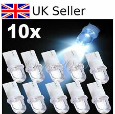 10x T10 W5W 501 194 168 Xenon White LED Car Interior Side Light Wedge Bulb Lamp