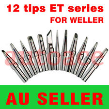 12PCs Solder Soldering Rework Station Iron Tips for Weller LR-21 PU50 WD1M WMD1