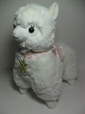 Winter Alpacasso White Girl Alpaca Gold Metallic Snowflake 45cm Plush Arpakasso