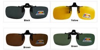 Brown Clip On Driving Glasses Sunglasses Specs Car Fishing Outdoor Polarized