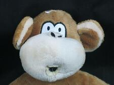 BOBBY JACK BRAND BROWN CAN MONKEY BELLY BUTTON PLUSH  STUFFED CUTE LOVEY