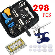 298Pcs Watch Repair Tool Set Back Case Opener Remover &Spring Pin &Crystal Press