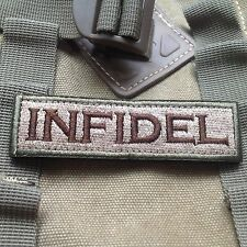 INFIDEL TACTICAL MILITARY USA ARMY ISAF MORALE BADGE SWAT PATCH