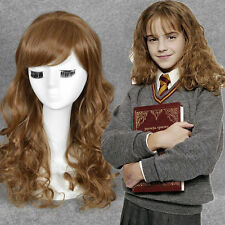 Harry Potter Hermione Jean Granger cosplay womens long brown curly full wigs