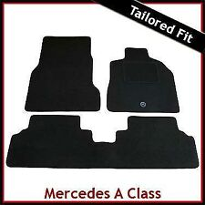 Tailored Carpet Floor Mats for MERCEDES A-Class W168 SWB 1997-2005 BLACK