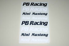 PB P.B Cars Racing UK Mini Mustang Maxima RC R/C Vintage Repro Sticker Decals SE