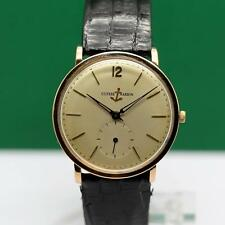 1960's ULYSSE NARDIN 18K SOLID GOLD MANUAL WIND MEN'S WATCH