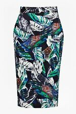 BNWT French Connection Calliope Printed Pencil Evening Occasion Skirt Size 8 NEW
