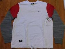 "Mens L-R-G Lifted Research Group ""Panic"" Colorblock Sweatshirt White/Red Medium"
