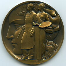 1937 International Exposition Arts-Technology Paris French Art Deco Medal, Turin