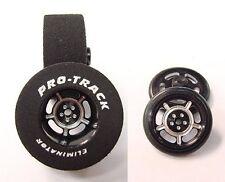 """Pro Track """"Daytona Black"""" 1 3/16"""" x .500 Rr & Ft Drag 1/24 Slot Car Tires"""