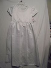 Strasburg Girls sz 10+ White Formal Dress Wedding Pageant First Holy Communion