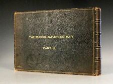 JAPAN Russia Japanese War NAVY Ogawa III Pt 13-18 FOLIO PHOTOS Leather 1904 RARE